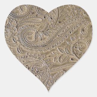 Dirty Paisley Heart Sticker