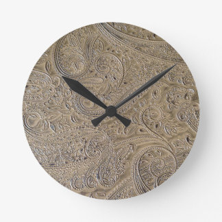 Dirty Paisley Round Clock