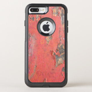 Dirty Peeling Red Paint on Barn Wood OtterBox Commuter iPhone 8 Plus/7 Plus Case