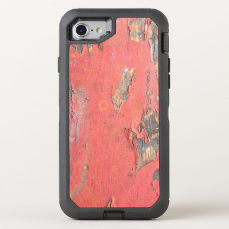 Dirty Peeling Red Paint on Barn Wood OtterBox Defender iPhone 8/7 Case