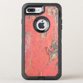 Dirty Peeling Red Paint on Barn Wood OtterBox Defender iPhone 8 Plus/7 Plus Case