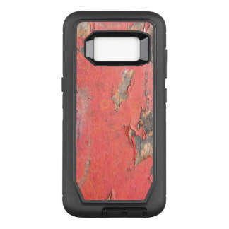 Dirty Peeling Red Paint on Barn Wood OtterBox Defender Samsung Galaxy S8 Case