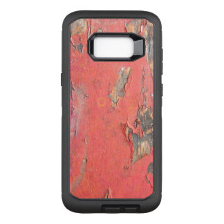 Dirty Peeling Red Paint on Barn Wood OtterBox Defender Samsung Galaxy S8+ Case