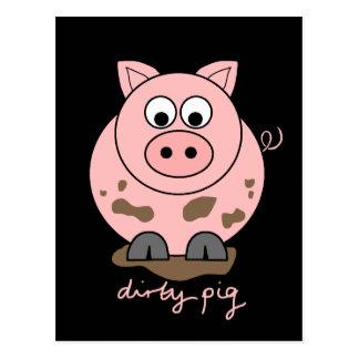 Dirty Pig Postcard