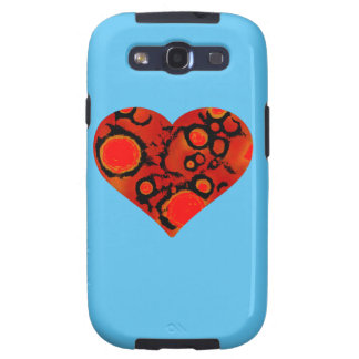 dirty red heart samsung galaxy s3 covers