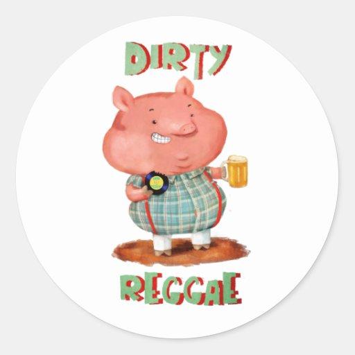 Dirty Reggae Pig Stickers