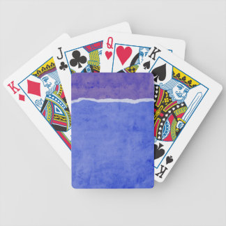 Dirty ripped paper poker deck