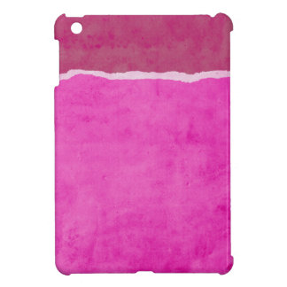 Dirty ripped pink paper iPad mini case