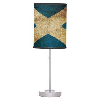 Dirty Scottish Flag Table Lamp