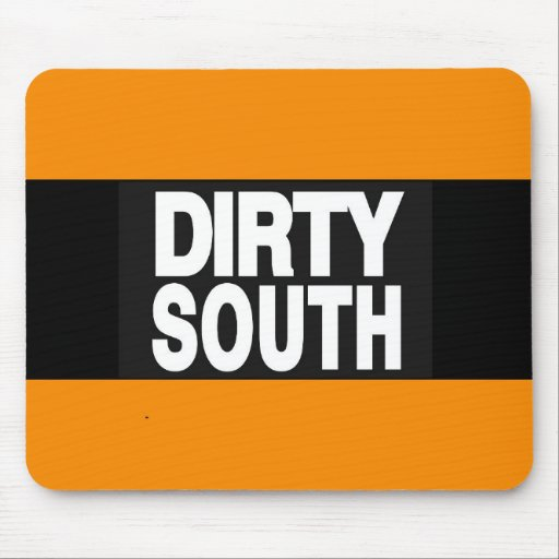Dirty South 2 Orange Mouse Pads