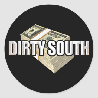 Dirty South Dollars Classic Round Sticker