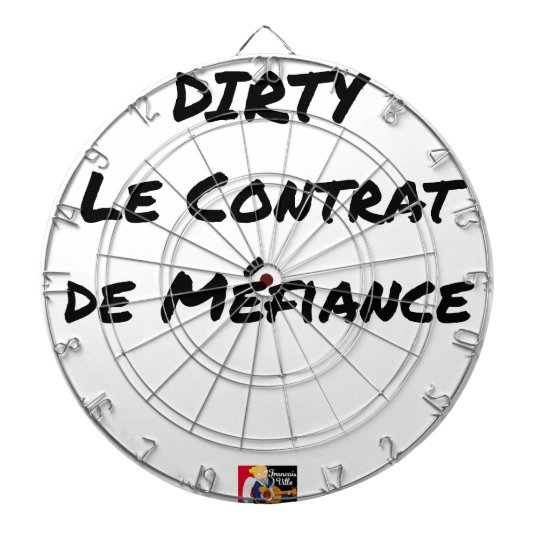 DIRTY, the CONTRACT OF MISTRUST - Word games Dartboard
