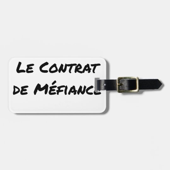 DIRTY, the CONTRACT OF MISTRUST - Word games Luggage Tag