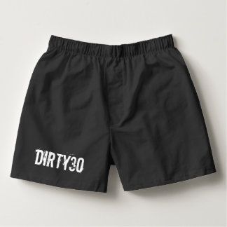 Dirty thirty boxer shorts for mens 30th Birthday Boxers