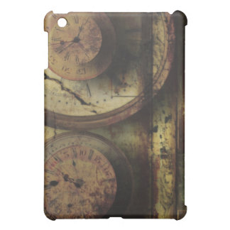 Dirty Timepiece Steampunk Clock Digital Collage iPad Mini Cover