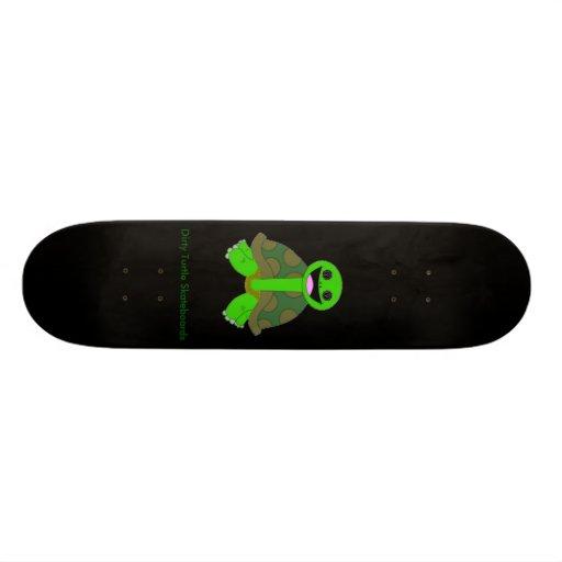 Dirty Turtle Logo, Black Skateboard Deck