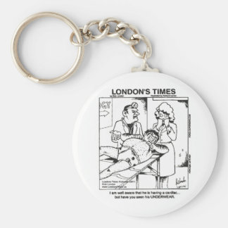 Dirty Underwear & Hospitals Funny Gifts & Tees Keychain