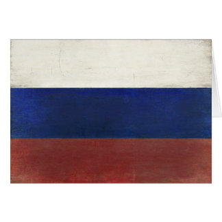 Dirty Vintage Flag from Russia Greeting Card