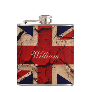 Dirty Vintage UK Flag Hip Flask