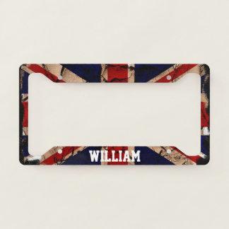 Dirty Vintage United Kingdom UK Flag Personalized License Plate Frame