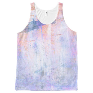 Dirty Watercolor All-Over Printed Unisex Tank