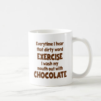 Dirty Word Exercise 1, brown Coffee Mug