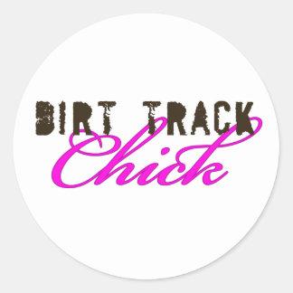 DirtyChick1 Classic Round Sticker