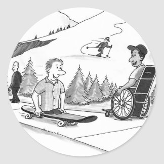 Disability Ability Classic Round Sticker