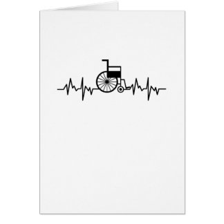 Disability Awareness Gift Wheelchair Heartbeat Card
