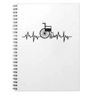 Disability Awareness Gift Wheelchair Heartbeat Notebook