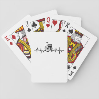 Disability Awareness Gift Wheelchair Heartbeat Playing Cards