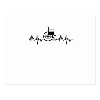 Disability Awareness Gift Wheelchair Heartbeat Postcard