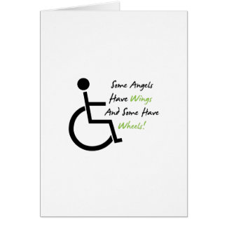 Disability Awareness Gift Wheelchair Love Support Card