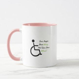 Disability Awareness Gift Wheelchair Love Support Mug