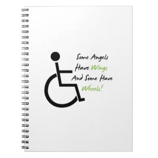 Disability Awareness Gift Wheelchair Love Support Notebook
