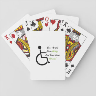 Disability Awareness Gift Wheelchair Love Support Playing Cards