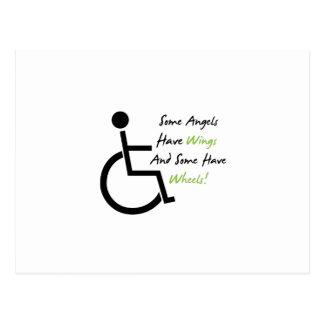 Disability Awareness Gift Wheelchair Love Support Postcard