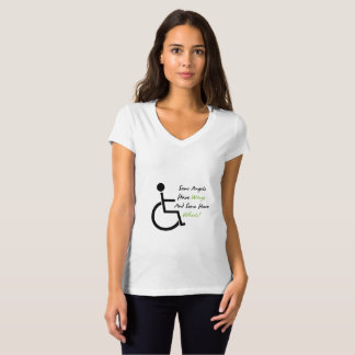 Disability Awareness Gift Wheelchair Love Support T-Shirt