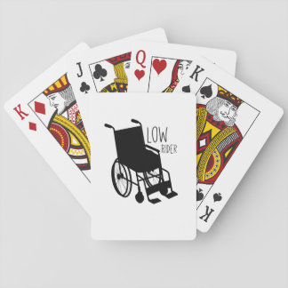 Disability Awareness Wheelchair Funny Low Rider Playing Cards