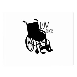 Disability Awareness Wheelchair Funny Low Rider Postcard