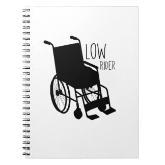 Disability Awareness Wheelchair Funny Low Rider Spiral Notebook
