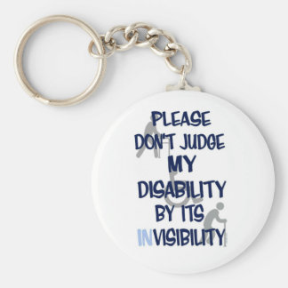 Disability/INvisibility Basic Round Button Keychain