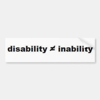 Disability Math Bumper Sticker