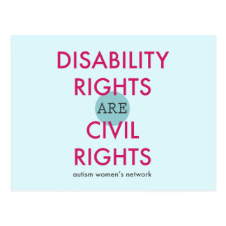 Disability Rights Postcard