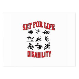 disability set for life postcard
