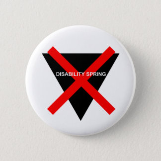 Disability Spring 2 Inch Round Button