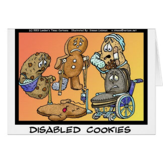 Disabled Cookies Funny Gifts & Collectibles Card