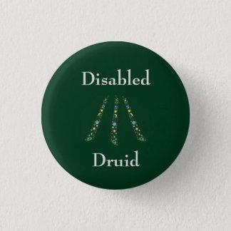 Disabled Druid 1 Inch Round Button