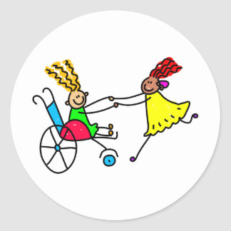 Disabled Friends Classic Round Sticker
