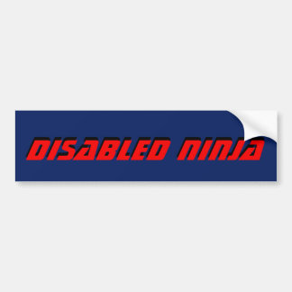 DISABLED NINJA BUMPER STICKER